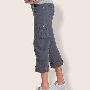 Kuhl Splash Shadow Gray Roll-Up Hiking Cargo Pants